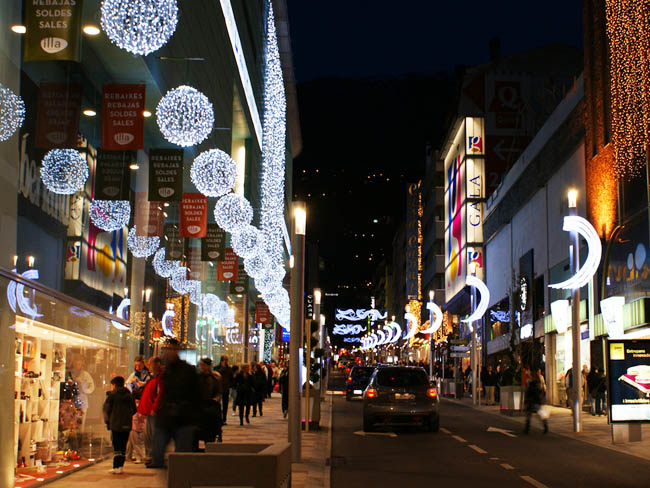 Evening shopping in Andorra la Vella