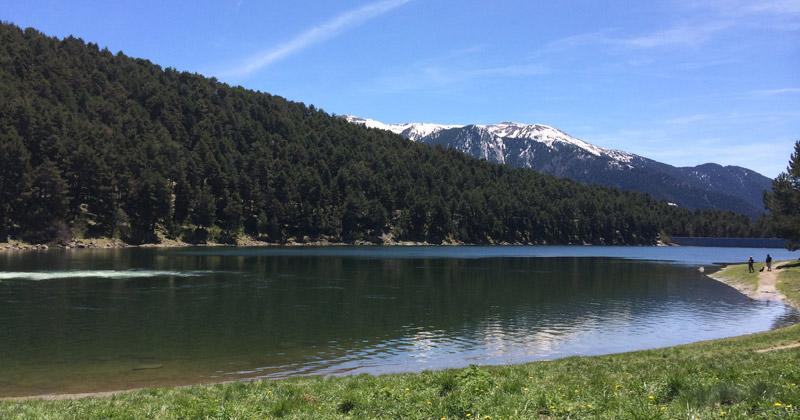 Blue sky, beautiful lake in Andorra