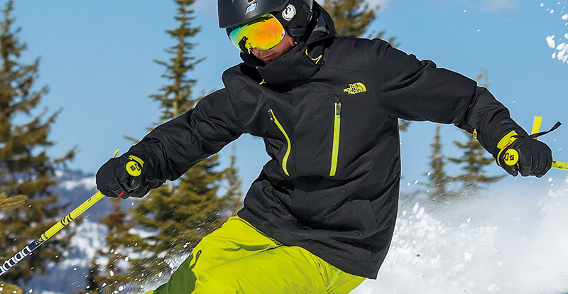 Skier in the latest gear