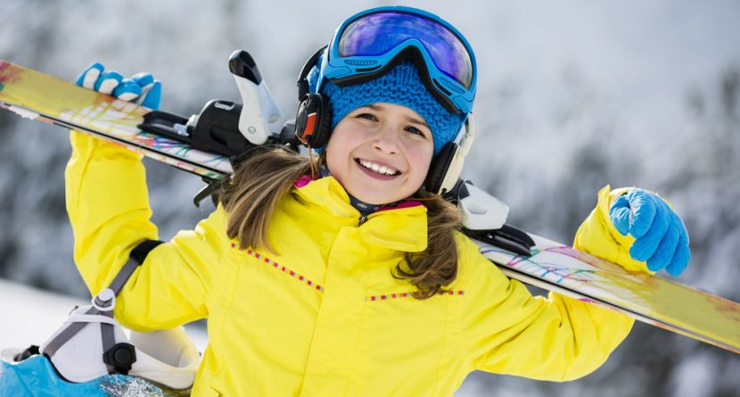Girl Dressed for Skiing
