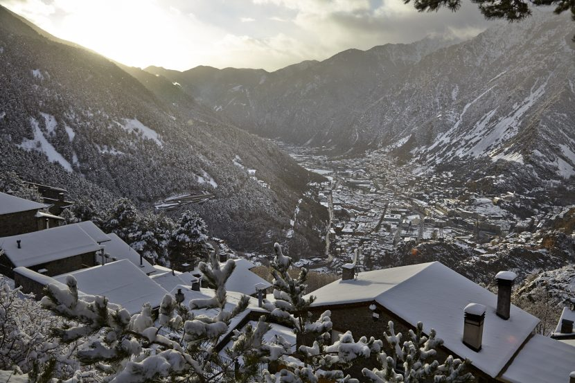 Andorra in snow