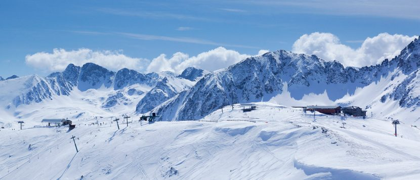 Snowy mountains of Grandvalira Soldeu