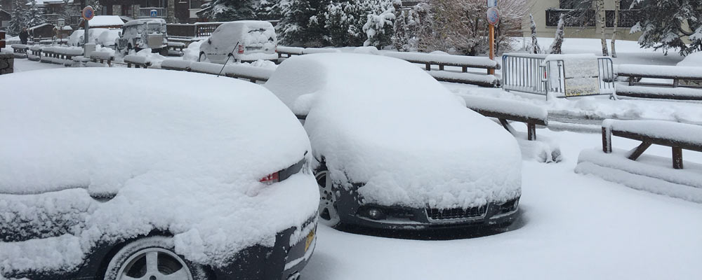 Cars in snow