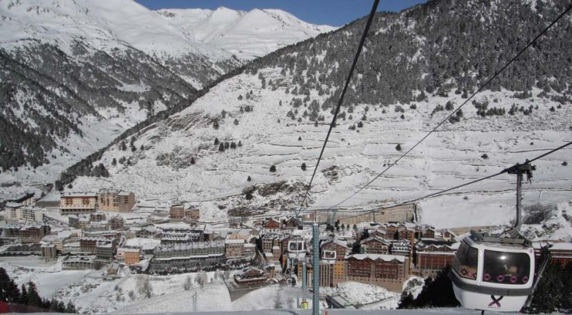 Soldeu from gondola