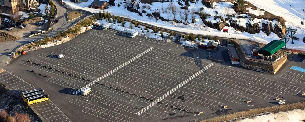 Car park in El Tarter