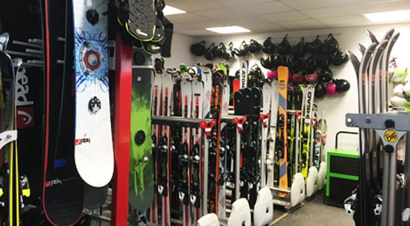 Rental shop skis