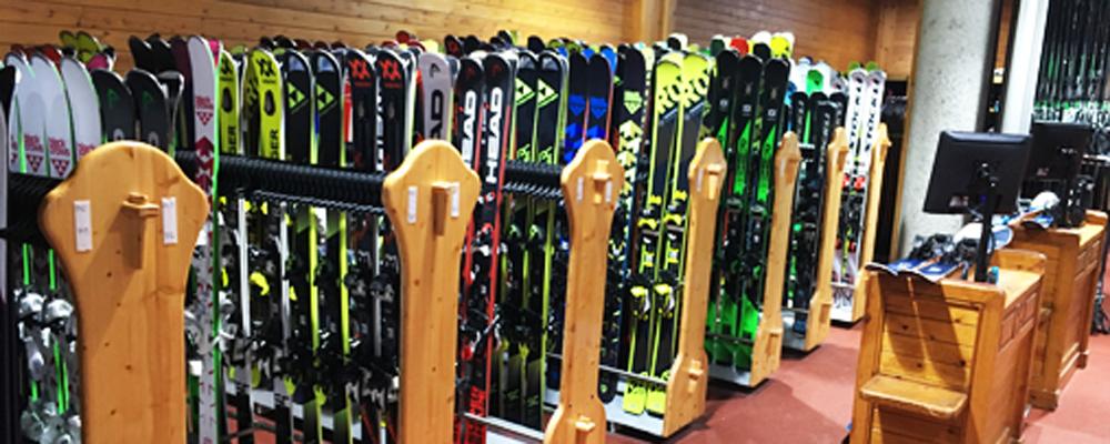 Rental shop skis
