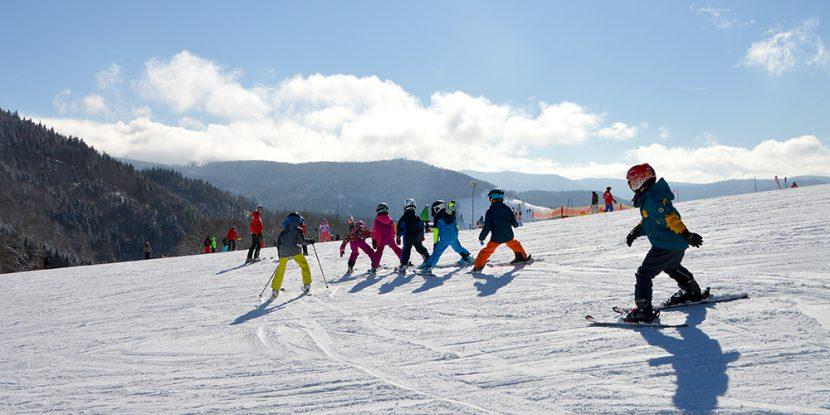 Ski school group in Andorra