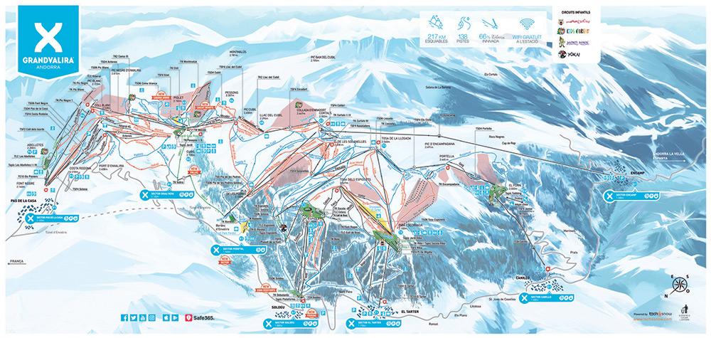 Grandvalira Piste Map 2019