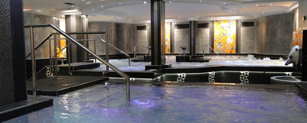 The best hotel in Arinsal, this is the super spa area at Hotel Diana Parc.
