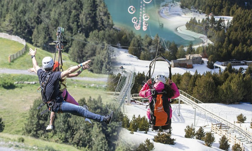 Zipline Summer to Winter
