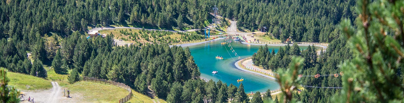 Grandvalira lake in the summer